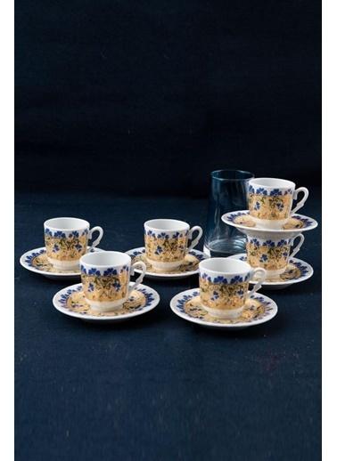 Güral Porselen Güral Porselen Sedef Kahve Fincan Takımı 6 Kişilik SF12CKT08115 Renkli